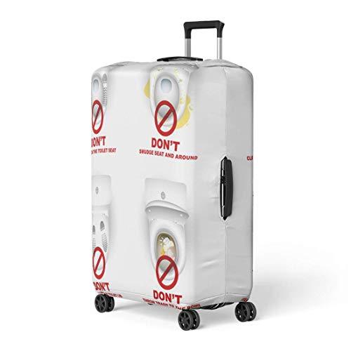 ngwanxinqu Gepäckraumabdeckung Toilettenschüsseln Warnsymbole für das Bad Reisekofferabdeckung Schutz Gepäck Koffer passt 26-28 Zoll