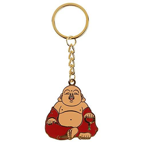 Chinesischer Buddha Schlüsselanhänger aus Emaille