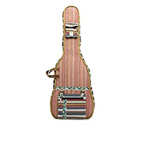 The House of Tara Multicolor Ethnic Handloom Fabric Acoustic Guitar Bag 4