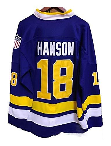 Hanson Brothers Jersey Jack#16/ Steve#17 /Jeff#18 Charlestown Chiefs Eishockey Trikots Jersey NHL Film Herren Sweatshirts Atmungsaktiv T-Shirt Bekleidung (Color : 6, Size : 3XL)