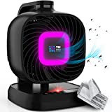[4 in 1] Indoor Insect and Flying Trap with Attractant, Fan & CO2 with 5 Extra Sticky Glue Boards - Best Effective Mosquito, Gnat, Moth, Fruit Flies Killer Eradicator Traps for Home, RV, Camping