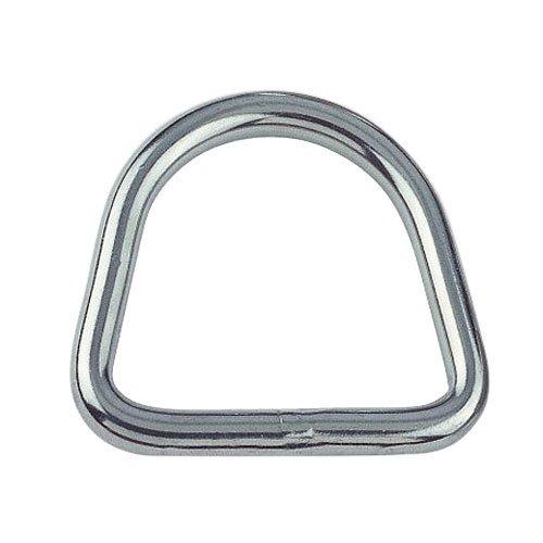 Yacht Steel D-Ring, geschweißt und poliert, 3mm, 20mm