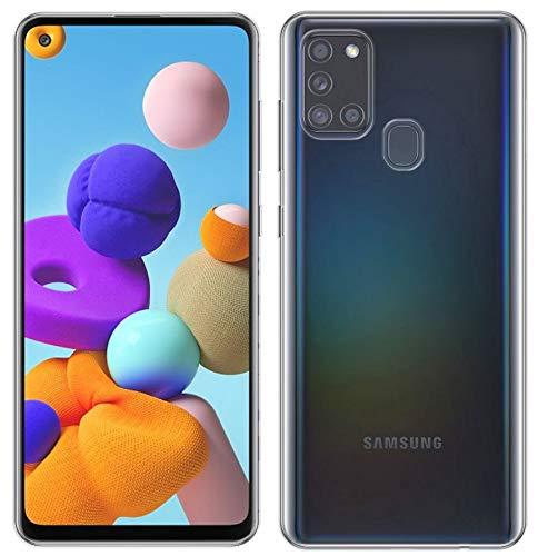 cofi1453® Silikon Hülle Basic kompatibel mit Samsung Galaxy A21s (A217F) Hülle TPU Soft Handy Cover Schutz Transparent