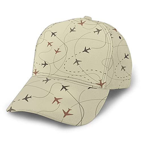 GCDD Gorra de béisbol curvada 3D de viaje de avión de aire ajustable Snapback de ala curvada gorras clásicas de papá sombrero de camionero para hombres y mujeres negro
