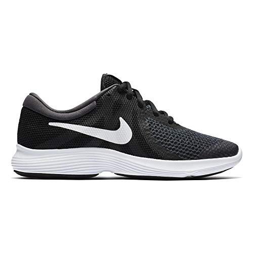 Nike Unisex-Kinder Laufschuh Revolution 4, Schwarz - 11