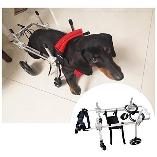 4 Räder Hunderollstuhl Wheels Dog Für Alter Hund, Katze, Kaninchen, Roller Hund Rollstuhl Einstellbare Für Klein Und Mittel Hund Haustier Roller Hundewagen(5 Größen) (Size : XXS)