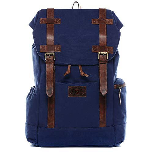 SID & VAIN Backpack Chase Large daybag knapsack Real Leather 15 inch Laptop Rucksack...