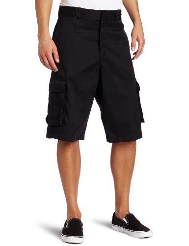 Dickies Men s 13 Inch Loose Fit Twill Cargo Short, Black, 36