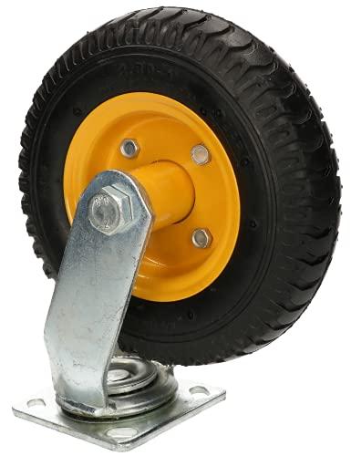 KOTARBAU Rueda de transporte neumática, 25 x 30 cm, con llanta de acero, para carro de almacenamiento