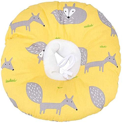 huahuajia Collar De ReparacióN para Gatos Anillo De AlgodóN Antideslizante Ajustable para Perros Y Gatos Protector Suave De RecuperacióN De Cuello De Mascota Yellow,37