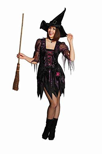 4U-Onlinehandel 13906-38 Spider Witch - Disfraz de Bruja (Talla 38), Color Negro