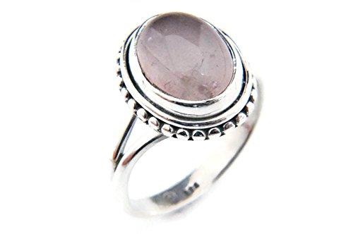 Ring Silber 925 Sterlingsilber Rosenquarz rosa Stein (Nr: MRI 76), Ringgröße:50