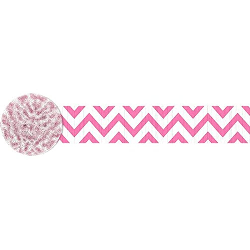 Chevron Crepe Streamer | Bright Pink | Party Decor