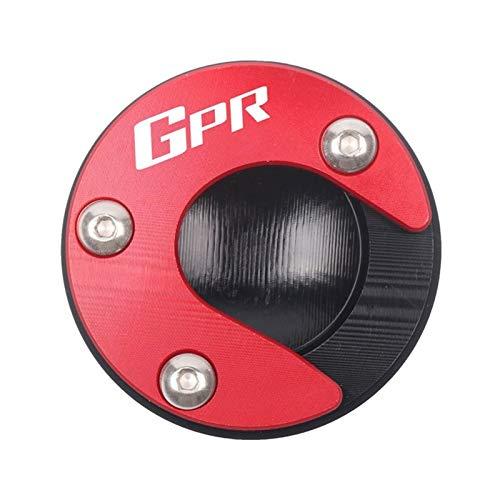 Caballete Lateral Moto para Aprilia GPR125 GPR150 RS125 RS125 APR150 Motocicleta CNC Kickstand Pie de pie Soporte Placa de Soporte Placa de Soporte Agrandar (Color : Red)