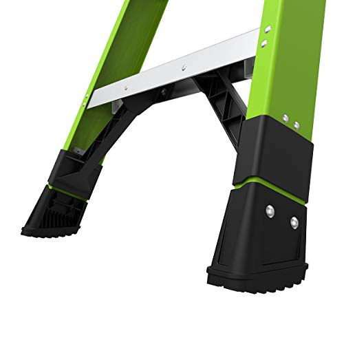 Little Giant Ladders, King Kombo, Industrial, 8 Ft. A Frame, 14 Ft. Extension, Ground Cue, V-bar, Fiberglass, Type 1AA, 375 lbs weight rating, (13814-071)