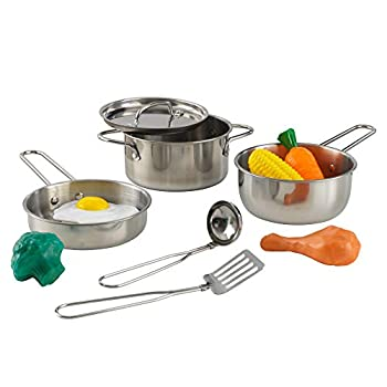 KidKraft Deluxe Cookware Set with Food Gift for Ages 3+