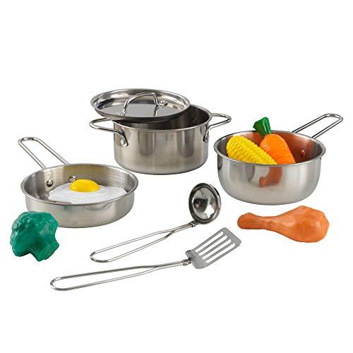 KidKraft 63186 Deluxe Kochset mit Spielzeug-Lebensmitteln für Kinder