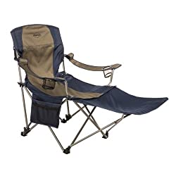 Kamp-Rite Folding Lawn Chair with Detachable Footrest