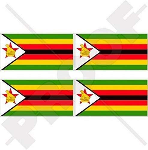 Simbabwe Flagge Afrika Rhodesien, afrikanischen 5,1cm (50mm) Vinyl bumper-helmet Sticker, Aufkleber X4