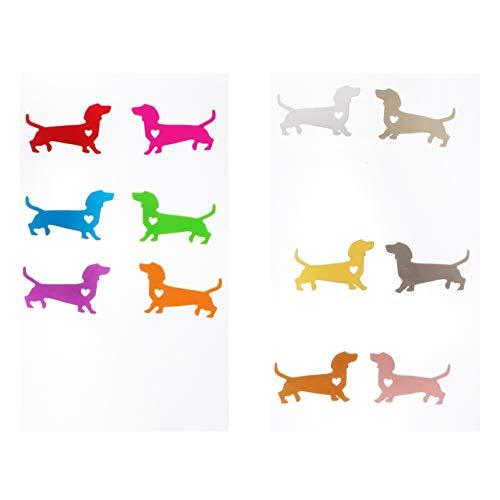 VALICLUD 12 marcadores de cristal con forma de perro salchicha en forma...