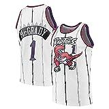 KKSY Trikot Tracy McGrady # 1 Retro NBA Jersey Toronto Raptors Basketball Trikot Ärmelloses Training Sportkleidung,B,L