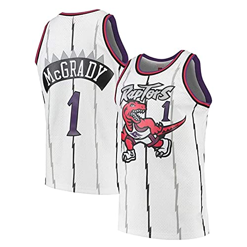 KKSY Trikot Tracy McGrady # 1 Retro NBA Jersey Toronto Raptors Basketball Trikot Ärmelloses Training Sportkleidung,B,M