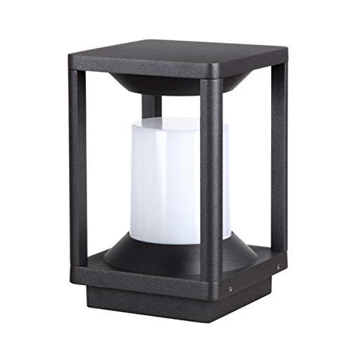 JJZXD Lámpara de Cerca de jardín lámpara de césped de Carretera de Parque lámpara de Cabeza de Pared de Columna de Exterior led Moderna