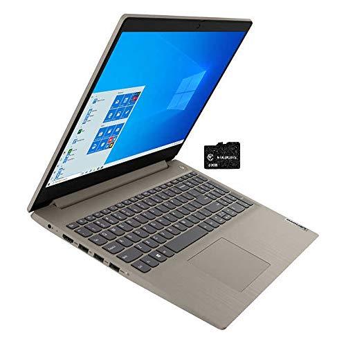 "2021 Lenovo Ideapad 3 15.6"" Touchscreen Laptop Computer Intel Quad-Core i5-10210U (Beats i7-8665U), 12GB DDR4 RAM, 1TB HDD, WiFi , Bluetooth, Webcam, Almond, Windows 10 Home, GOLDOXIS 32GB SD Card"