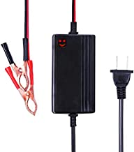 12V to 14.8V Automatic Lead Acid Battery Charger / Maintainer, 1.2A Trickle Charger for car, Truck, Boat, Motorcycle, RV, Lawn Tractor ...