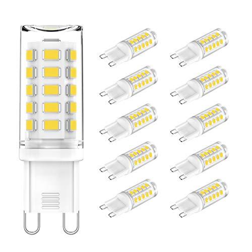 G9 LED Naturweiß 4000K, LED Lampe G9 3W, 25W 28W 40W Halogenäquivalent, AC 230V, 355LM, CRI> 85, Mini LED Leuchtmittel G9 für Kronleuchter, Kein Flimmern, Nicht dimmbar, 10er Pack, CHEERBEE