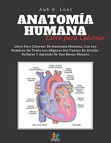 Anatomía Humana: Libro para Colorear (Spanish Edition)