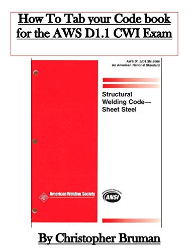CWI Prep: How to Tab your D1.1