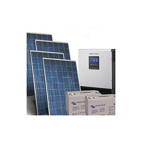 Kit Casa Solare Pro 1Kw 24V Impianto Fotovoltaico Inverter 3000W Batteria 110Ah