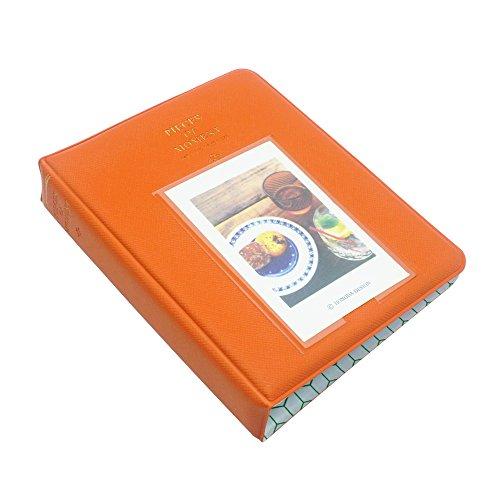 FoRapid Pieces of Moment Instax Mini Photo Album for Instax Mini 8 8+ 9 70 90 7s 25 26 50s/Pringo 231/Fujifilm Instax SP-1/ Polaroid PIC-300P/Z2300 Snap Touch & Name Card(64 +1 Photos, Orange)