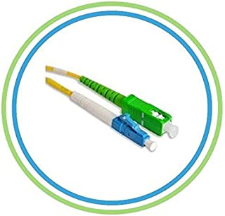 PacSatSales - Fiber Optic Patch Cable - Single Mode - SIMPLEX - OS1-9/125um (1M, SC/APC to LC)