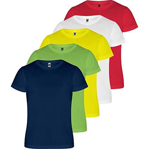 ROLY Camiseta Hombre (Pack 5) Deporte | Camiseta Técnica para Fitness o Running | Transpirable (COMBINACIÓN 1, XL)