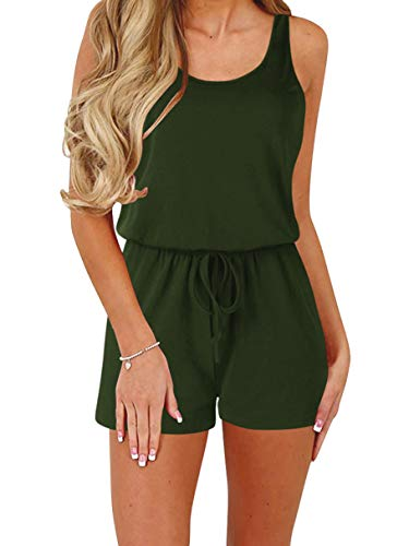 ANRABESS Women's Summer Sleeveless Jumpsuit Loose Solid Tank Rompers Hide Belly 2A09junlv-L