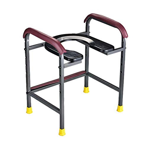 Bathroom Wheelchairs Toilet Handrail Bathroom Grab Rails Punch Free Toilet Stainless Steel Handrail Elderly Pregnant Women Non-Slip Toilet Adjustable Safety Frames