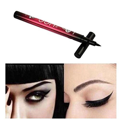 Tefamore Lápiz Delineador de Ojos Negro Eyeliner Líquido Impermeable Maquillaje Belleza Cométicos (negro)