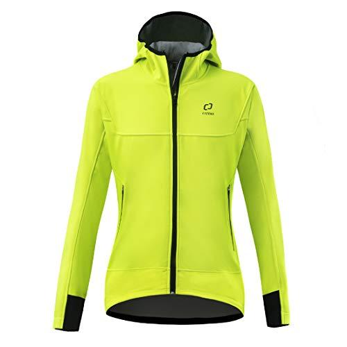 CATENA Mujer Abrigo Prueba de Viento Invierno Térmico Hoddy Impermeable Jacket con Tejido Transpirable al Aire Libre Deportivade Ciclismo