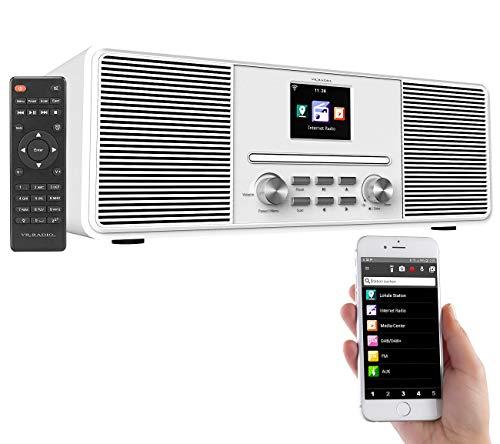 VR-Radio DAB Radios: Stereo-Internetradio mit CD-Player, DAB+/FM & Bluetooth, 40 Watt, weiß (DAB CD Radio)