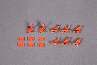 Part & Accessories FMS 90mm Ducted Fan EDF Super Scorpion Control Horns Orange/Red FMSRA111 RC Airplane Model Plane Spare Parts - (Color: Orange)