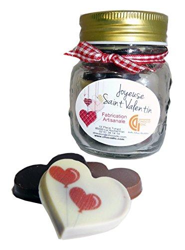 CHOCOLAT SAINT VALENTIN - BONBONNIERE SAINT VALENTIN CHOCOLAT COEUR PERSONNALISES - CHOCOLAT ARTISANAL- COFFRET CADEAU CHOCOLAT ST VALENTIN