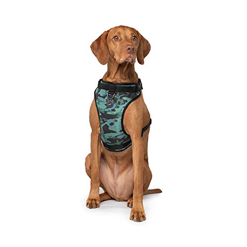 Canada Pooch | Everything Dog Harness | No-Pull Adjustable Dog Harness | Camo - Size L, L