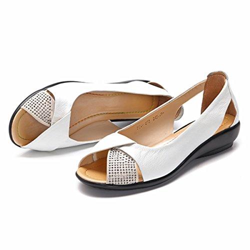 Socofy Sandales Femme, Chaussures de Ville Été en...