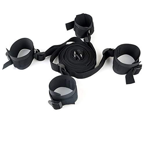 ZYAM Bett-Nylon-Gurt mit Handgelenk- und Knöchelriemen, weicher und bequemer Verstellbarer Gurt für Paar-Bondage-Spiele
