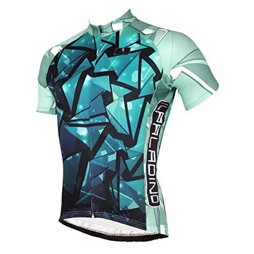L.J.JZDY Fahrradtrikot Radsportanzug Dünner Kurzarmanzug Mountainbike-Bekleidung Atmungsaktives Damen-Radtrikot Sportkleidung (Color : Green, Size : M)