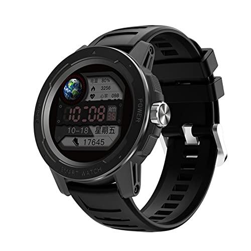 DZX 2021 Reloj Inteligente Hombre Mujeres Relojes Inteligentes Ritmo cardíaco Monitor de sueño Monitor Fitness Sport Tracker Pantalla táctil Completa para Android iOS,B