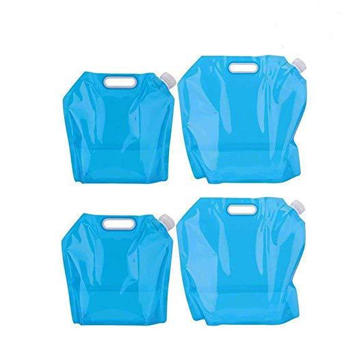 4 Piezas Recipiente de Agua Plegable, Bolsa de Agua Plegable Al Aire Libre, Uso de Bolsa de Almacenamiento de Agua Plegable para Acampar Deportivo, Senderismo, Barbacoa, Regalo Resistente Al Agua