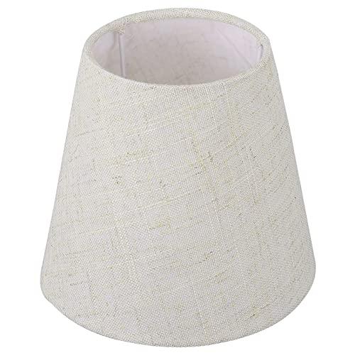 OSALADI Pantalla de Lámpara de Tela Cubierta de Lámpara Sencilla Accesorios para Lámpara de Pie Lámpara de Mesa/Escritorio Candelabro Luz Colgante (Lino)